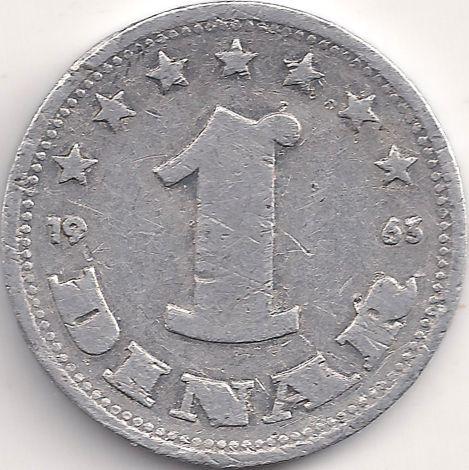 Wertseite: Münze-Europa-Südosteuropa-Jugoslawien-Dinar-1.00-1963
