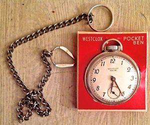 Antiquité 1958. Montre de poche. Pocket Ben Westclox Canada L