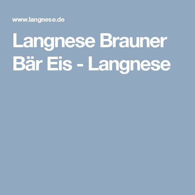 Langnese Brauner Bär Eis - Langnese
