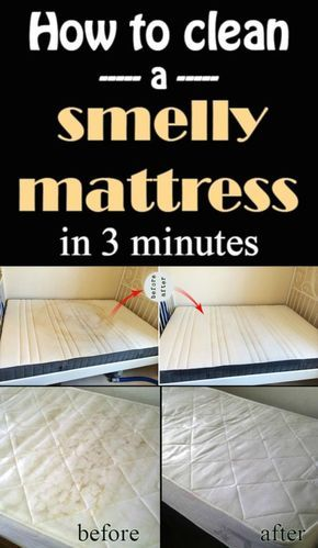 Learn how to clean a smelly mattress in 5 minutes.