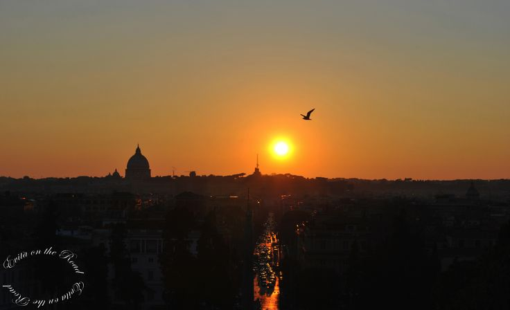 Be Romantic This Week-End! Sunset in Rome