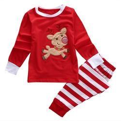 2Pcs Suits Children Clothing Kids Baby Boys Girls Christmas Family Pajamas Set Sleepwear Nightwear Pyjamas