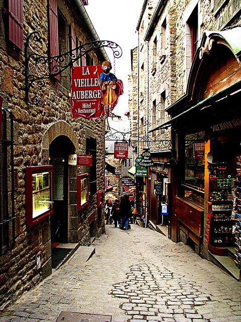 Shopping at Mont Saint Michel, France!