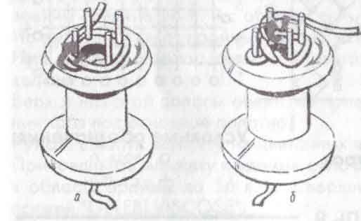 схема вязания (плетения) крючком шнура на катушке
