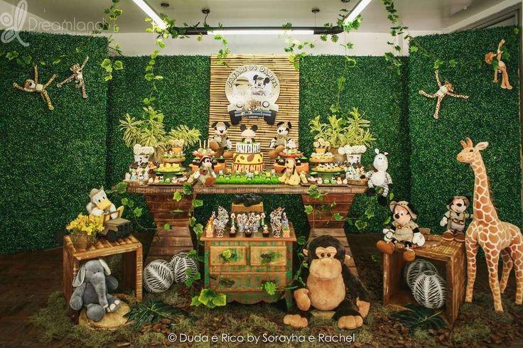 Mickey Safari Birthday Party Ideas | Photo 1 of 11