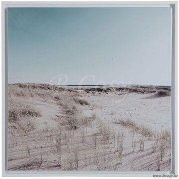 """J-Line Canvas duinen hout-papier 55x55 <span style=""""font-size: 0.01pt;"""">Jline-by-Jolipa-62775-canvas-kader-canevas-online-shop-online-style-campagne-canevas-accessoires-de-la-maison-rural-style</span>"""