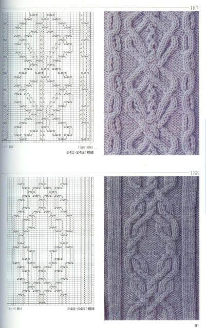 20 padrões de tricô grátis em duas agulhas | Crochê e duas agulhas
