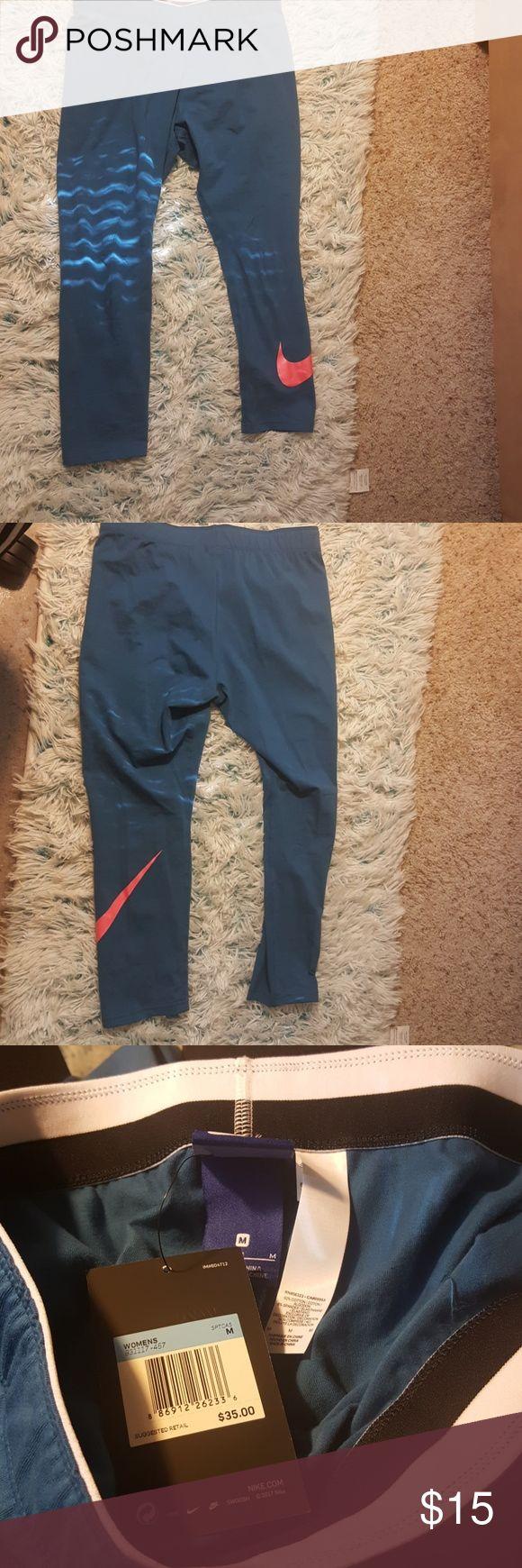 Nike Capri Leggings Blue and Hot pink Nike Capri Leggings Nike Pants Leggings
