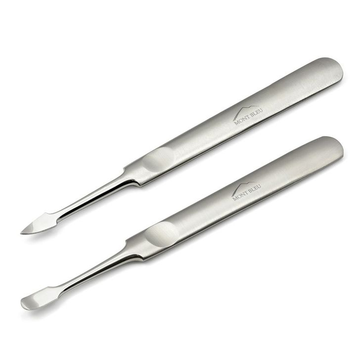 Mont Bleu Set of 2 Manicure Tools: Nail Cleaner & Cuticle Pusher