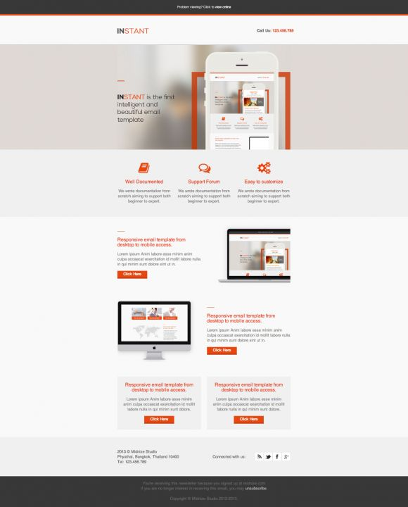 Instant Business Responsive Email Template Beautiful Email