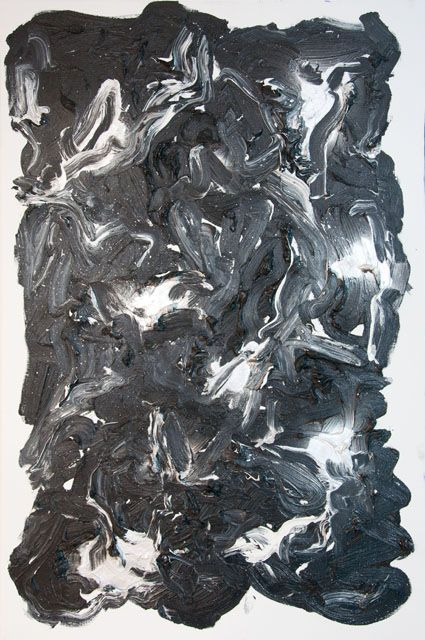 Stella Corkery, Untitled 88, oil and spray paint on readymade canvas and stretcher,  610mm x 910mm