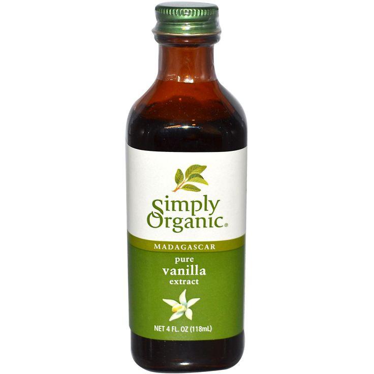 Simply Organic, Madagascar Pure Vanilla Extract, 4 fl oz (118 ml) - iHerb.com