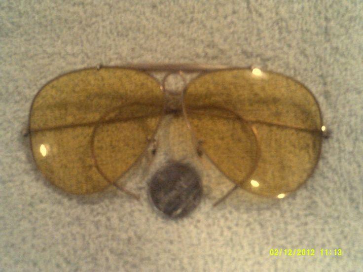 RAY-BAN B&L 1/10 12K GF SUNGLASSES BULLET HOLE vintage GOLD AVIATOR pilots AMBER