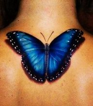 Love the colors and 3D effect of the Blue Morpho Butterfly tattoo. Maybe a little smaller and on my shoulder...