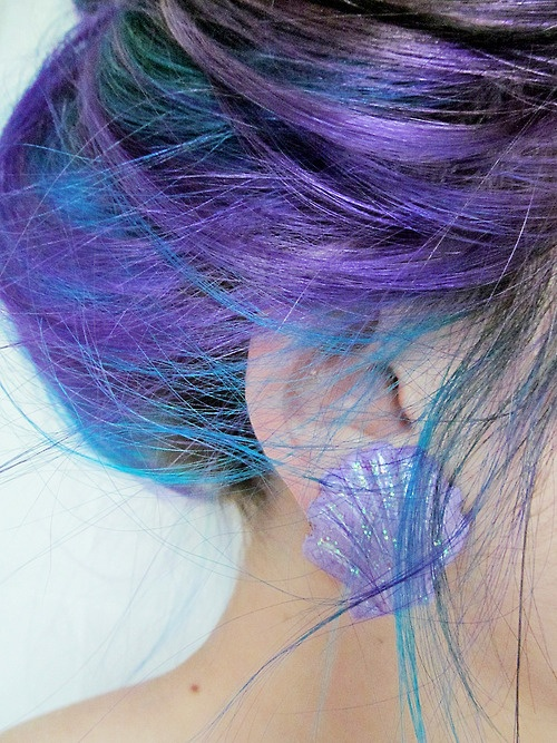 Mermaid hair! I wanna do this for underlayers!