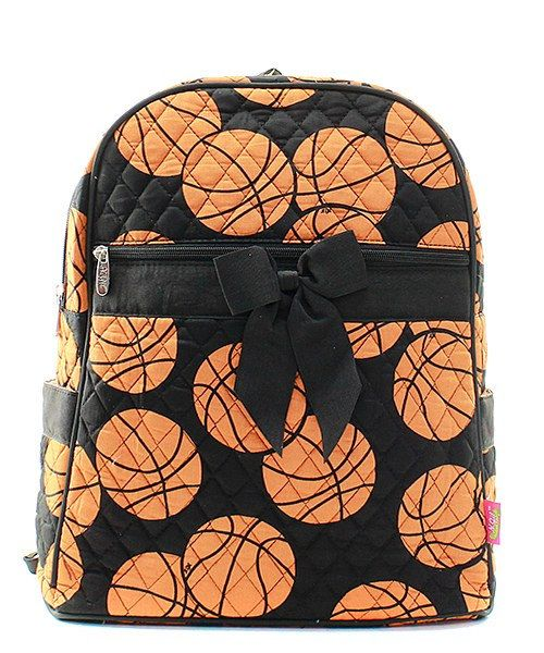 Basketball Print Monogrammed Quilted Backpack by CoHoBags on Etsy