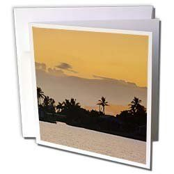 """Florene Tropic Sunset - Orange Gold and Violet Florida Sunset - Greeting Cards-12 Greeting Cards with envelopes by 3dRose. $15.95. Orange Gold and Violet Florida Sunset Greeting Card is a great way to say """"thank you"""" or to acknowledge any occasion. These blank cards are made of heavy duty card stock with a gloss exterior and a matte interior for smudge free writing. Cards are creased for easy folding and come with white envelopes. Available in sets of 6 and 12.. Save 20%!"""