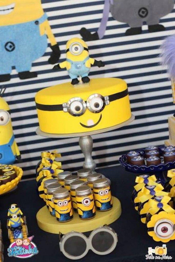 Minion themed birthday party via Kara's Party Ideas KarasPartyIdeas.com Cake, printables, favors, supplies, cupcakes, and more! #despicableme #minionparty #minionpartyideas (15)