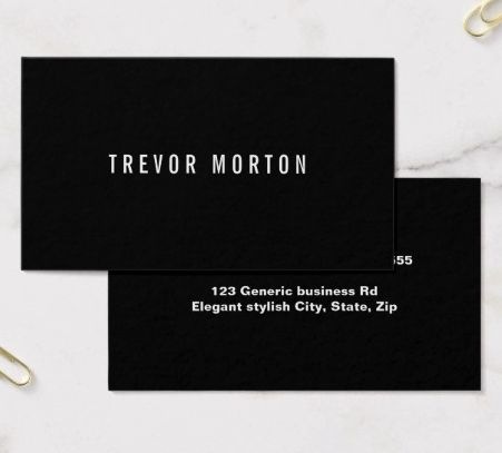 57 best generic business cards images on pinterest minimal modern bold black minimal professional business card accmission Choice Image