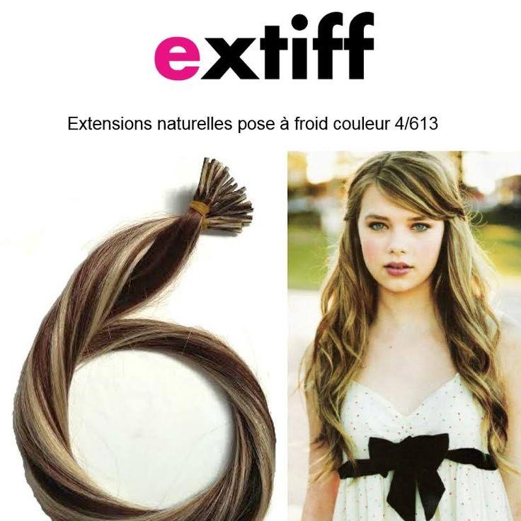 extensions extiff pose froid 40cm couleur 4613 blond fonc dor iris - Coloration Blond Fonce Dore