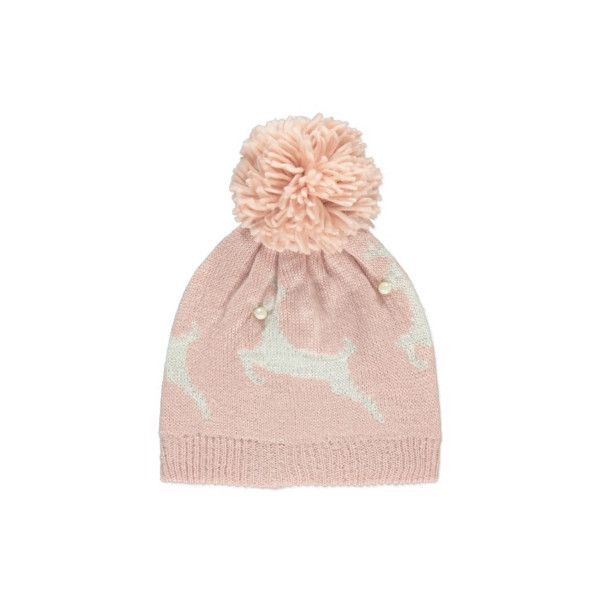Bobble Christmas Bobble Hat ($4.01) ❤ liked on Polyvore featuring accessories, hats, pink, bobble hat, beanie bobble hat, pompom hat, pink hats and beaded hat