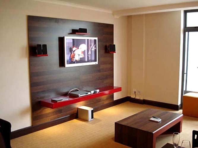 25 best images about lcd tv cabinets design on pinterest for Wall mounted tv cabinet design ideas