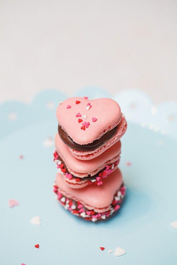 Valentine's makroner