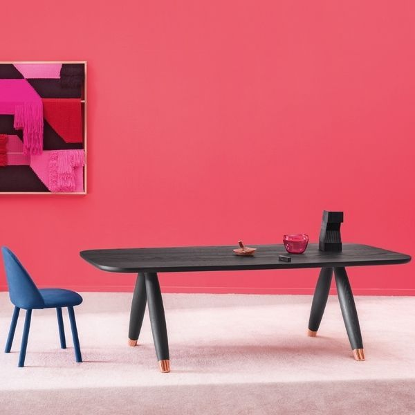 Dining Table Rectangular Rounded Corners Miniforms Basilio