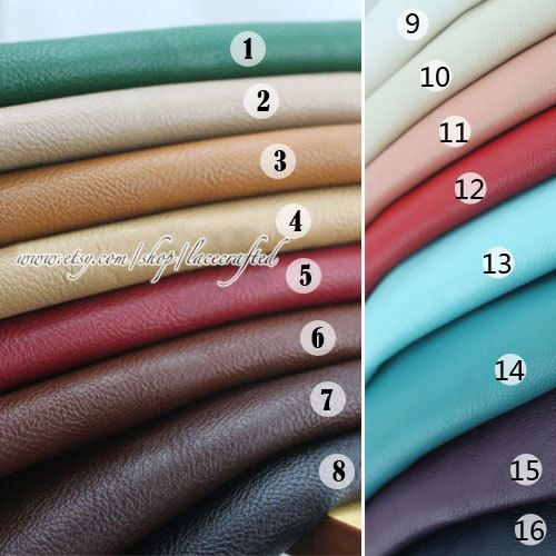 Half Yard Faux Leather Fabric  imitation leather ,Soft Leather For Upholster,Bags Craft - 55''Width variety colors