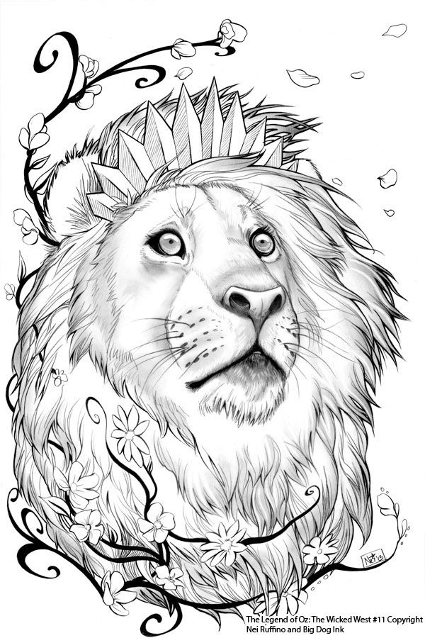 Oz 11 Cowardly Lion By ToolKitten Cartoons Comics Traditional Media