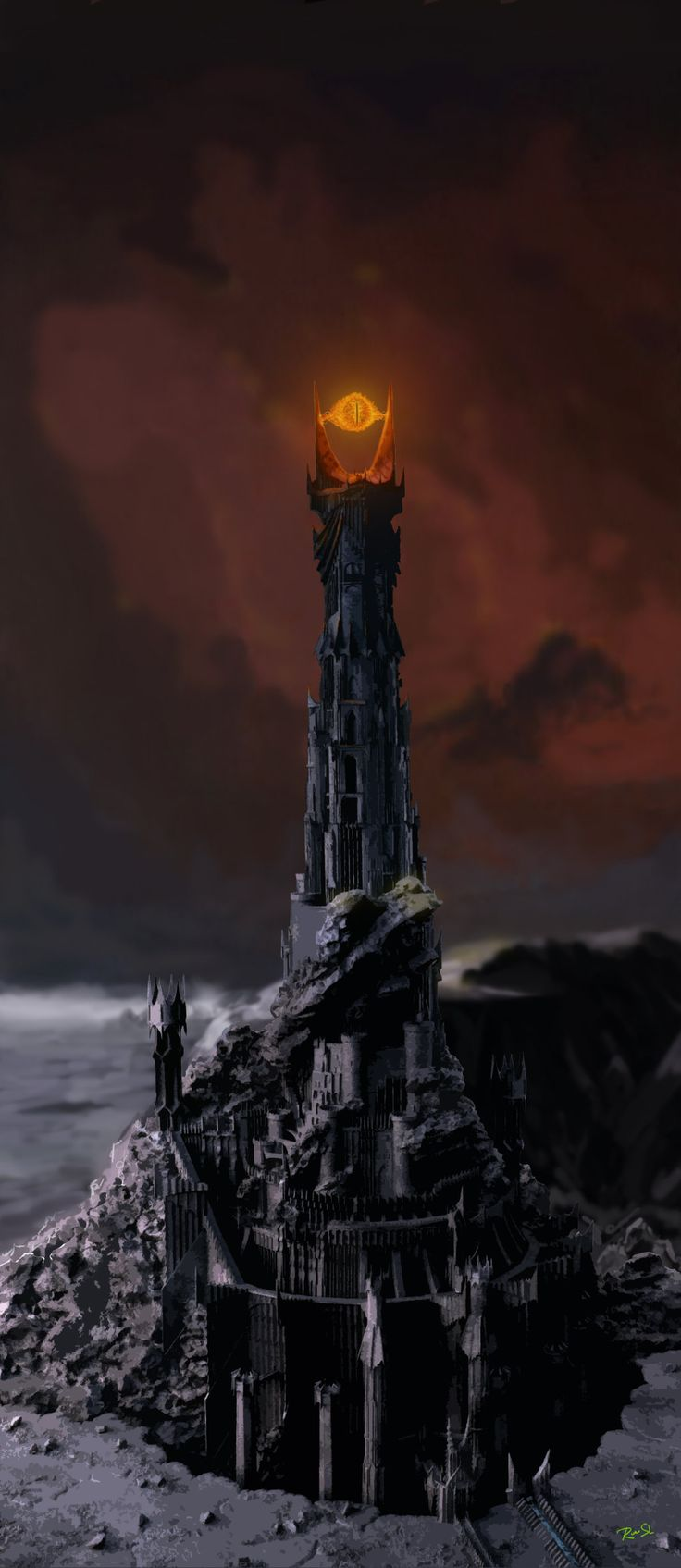 Sauron Tower Drawing