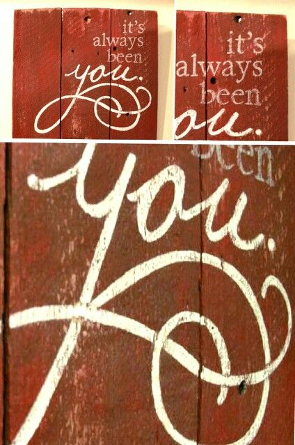 artwork created from repurposed fence boards - It's always been you