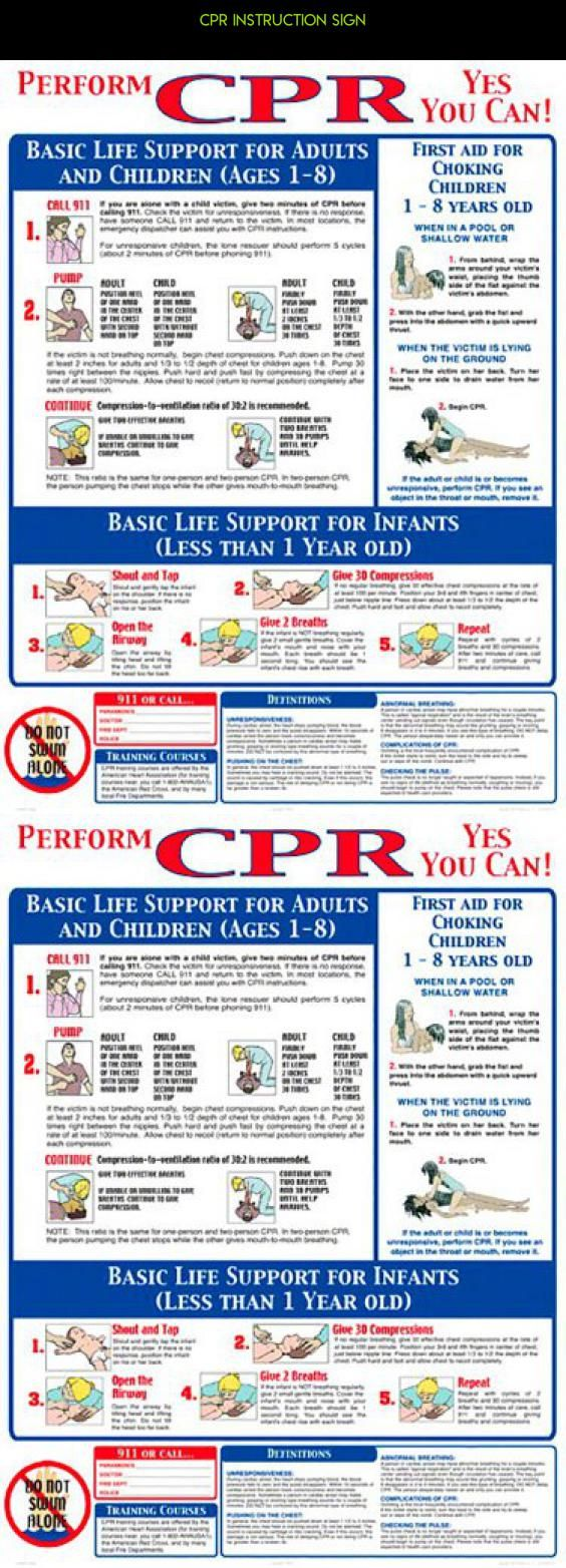 CPR Instruction Sign #products #racing #camera #shopping #parts #pools #tech #fpv #plans #kit #signs #drone #gadgets #technology
