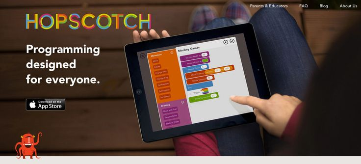 Hopscotch allows your kids to develop their own games, stories, animations and other many interactive programs by dragging and dropping blocks of code.