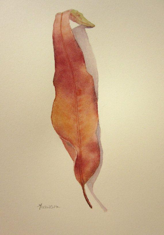 Gum leaf 2 -- original watercolour painting