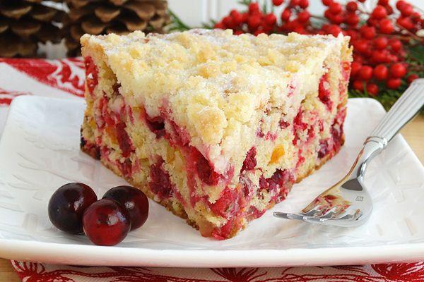 Navidad del arándano de la hebilla con la galleta de azúcar Streusel {opción gratuita gluten} por WickedGoodKitchen.com #christmas #cake #recipe