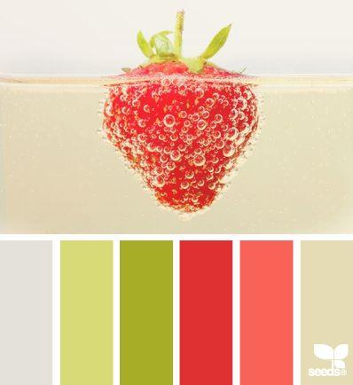 strawberry fizz, saber combinar los colores para decorar