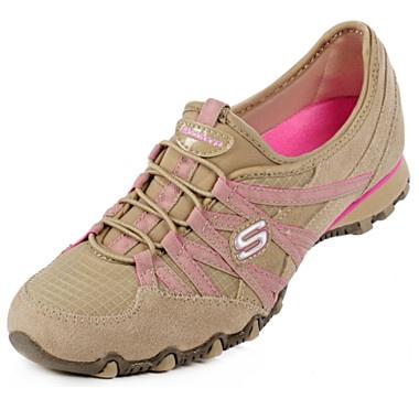 Skechers Ladies Bungee Slip on Sneakers - TAUPE  #ilovetoshop