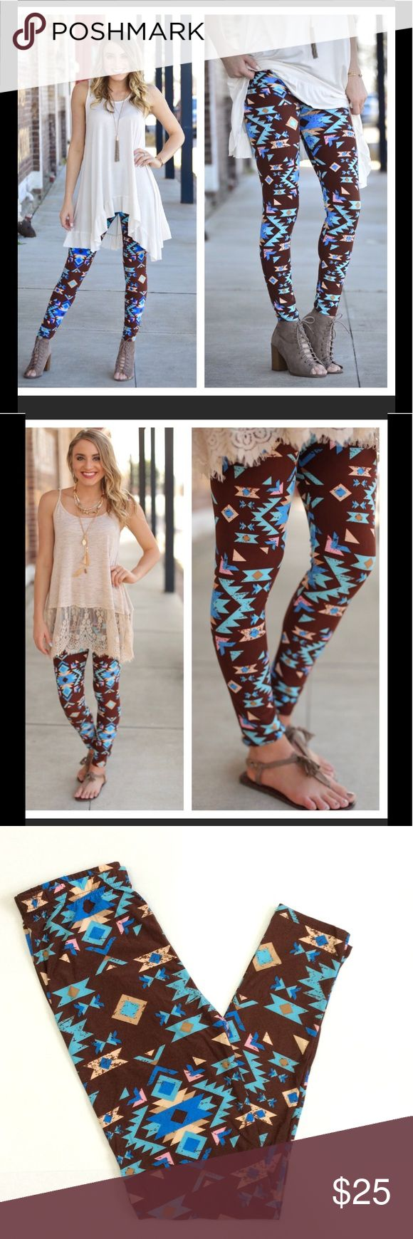 Infinity Raine Aztec Print Leggings Buttery soft lively aztec print leggings designed by Infinity Raine.  92% Polyester 8% Spandex.  One size fits sizes 2-12 comfortably. Infinity Raine Pants Leggings