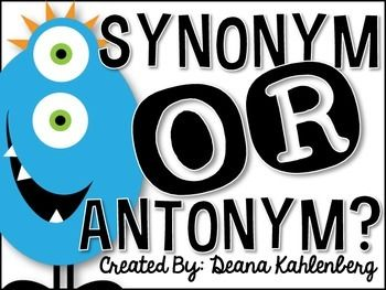 Free! Synonym or Antonym? {Games and Sorting Activities}