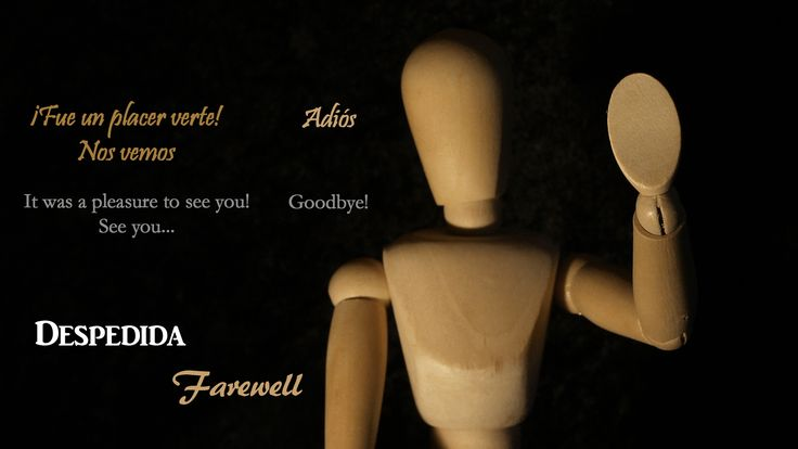 How to say goodbye in Spanish... This picture is part of a Spanish video and a very nice lesson.