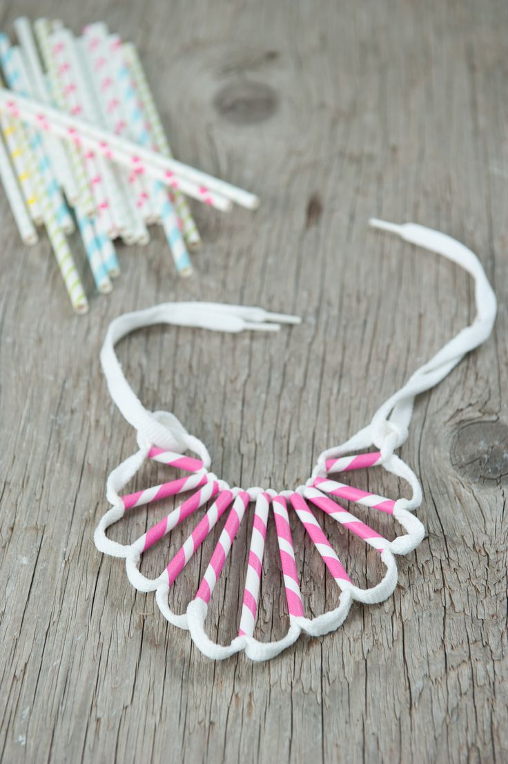 DIY straws necklace WOW TO- Kids Magazine by Dana Israeli - craft projects, decorating ideas, party tips and inspiration