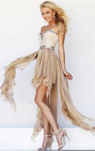 Sleeveless Zipper Chiffon Sweetheart A-line Formal Dresses gjea70118