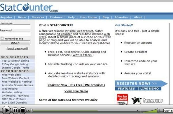 How To Install A Free Stats Counter In Your Site/Blog VIDEO TUTORIAL WITH PLR + MRR !!