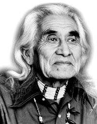 Chief Dan George was a gifted actor and chief of the Tsleil-waututh Nation in Burrard Inlet, British Columbia. He was born 'Geswanouth Slahoot', on July 24, 1899, in North Vancouver, British Columbia and died September 23, 1981, in Vancouver, British Columbia.    He first came to prominence in a supporting role as the Indian who adopts Dustin Hoffman in Arthur Penn's Little Big Man (1970); for which he received an Academy Award nomination.