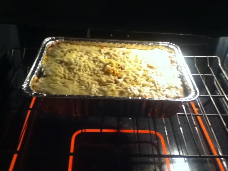 Homemade Eggplant,chicken mozzarella and ricotta  lasagna!