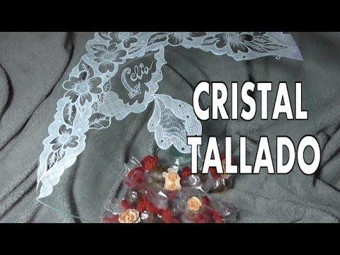 DIY TALLADO DE CRISTAL CON UN ENCAJE (+lista de reproducción)