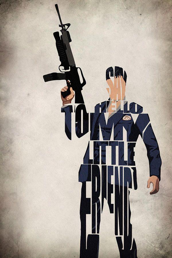 Tony Montana - Al Pacino Drawing  - Tony Montana - Al Pacino Fine Art Print
