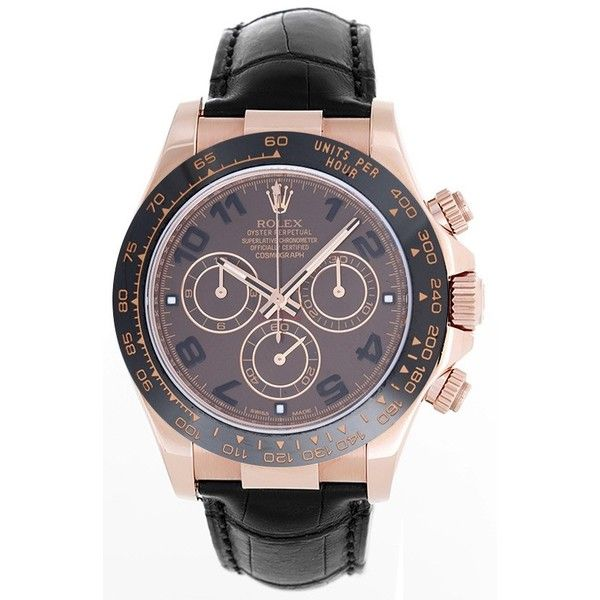 Rolex Cosmograph Everose Daytona Men's Rose Gold Watch 116515 ❤ liked on Polyvore featuring men's fashion, men's jewelry, men's watches, mens watches, mens watches jewelry, mens rose gold watches and rolex mens watches
