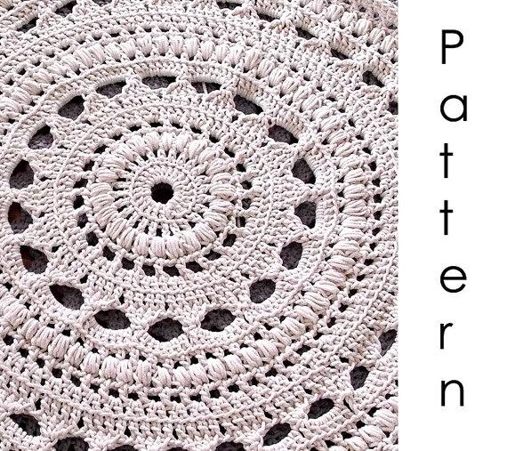 doily crochet rug pattern